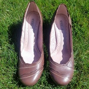Seychelles brown leather wedges - 9